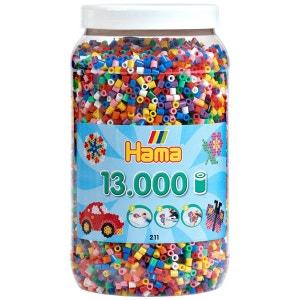 Pot de 13000 perles Hama Midi : 10 couleurs HAMA