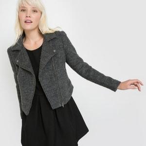 Cazadora de estilo motero de lana, BICTOIRE SCHOOL RAG