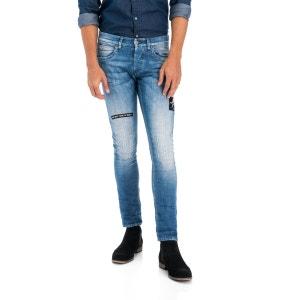 Jeans Clash Skinny 1st Level avec effets aux genoux SALSA