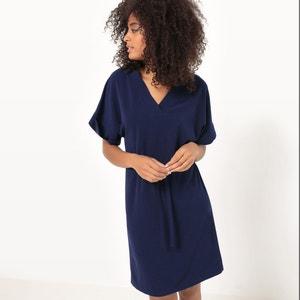 Vestido de mangas curtas, ajustado na cintura La Redoute Collections