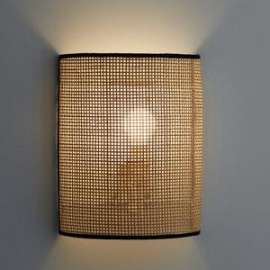 Wandlamp in gevlochten rotan, Dolkie