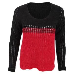 - Pull tricoté à deux couleurs - Femme FLOSO