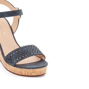 Sandalen met sleehak Gessie ESPRIT