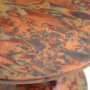 Sofa-Beistelltisch aus oxidiertem Kupfer
