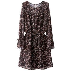 Korte jurk, folk spirit, bloemenprint R studio