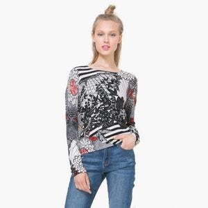 Bedrukt T-shirt met lange mouwen DESIGUAL