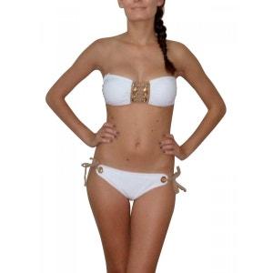 maillot de bain 2 pièces bandeau Aguaclara blanc AGUACLARA