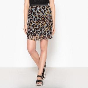 Short Leopard Print Pencil Skirt IKKS