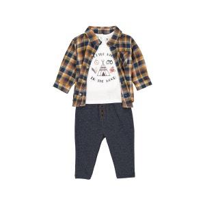 Ensemble bébé col polo,  chemise, manches longues La Redoute Collections