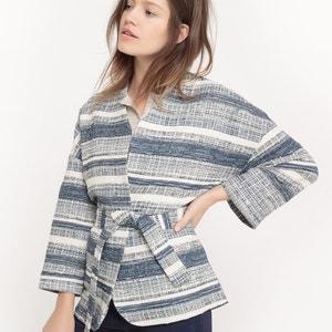 Veste forme kimono, imprimé jacquard R studio