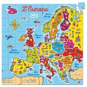 Puzzle 144 pièces en bois : Carte d'Europe VILAC