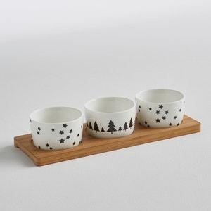 Conjunto de 3 recipientes pequeños + bandeja de cerámica y bambú La Redoute Interieurs