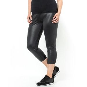 Kurze Leggings, schwarze Lackoptik CASTALUNA