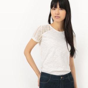 T-shirt manches courtes uni avec empiècement dente R Edition