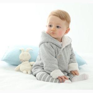 Manteau à capuche doublure moutonnée 0-3 ans R essentiel
