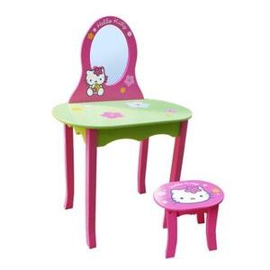 Coiffeuse avec siège en bois Hello Kitty JEMINI