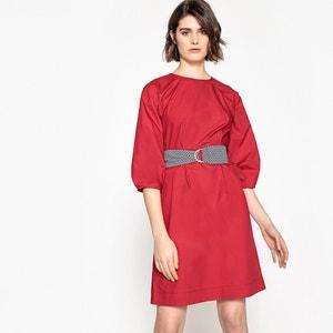 Unifarbenes Kleid, gerade Form, bedruckter Gürtel La Redoute Collections