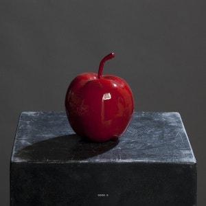 Pomme artificielle rouge brillante D 14 cm. Très bel objet déco. ARTIFICIELLES