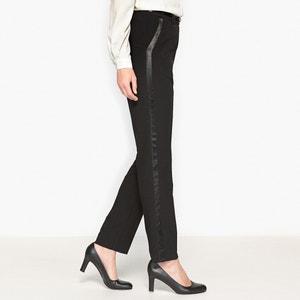 Pantalon couture, bandes satinées ANNE WEYBURN