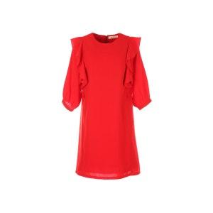 Robe courte volants, manches 3/4 DERHY