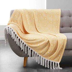 plaid jaune la redoute. Black Bedroom Furniture Sets. Home Design Ideas
