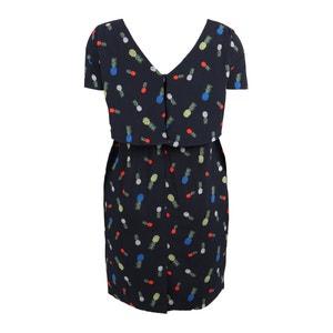 Wijd uitlopende bedrukte jurk, halflang KOKO BY KOKO