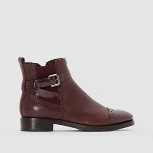 Boots in pelle con cinturino BROGUE GEOX