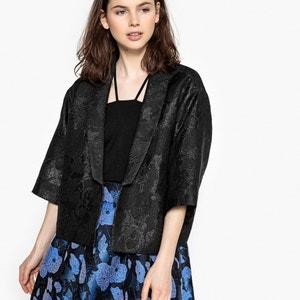 Kurze Jacke in Kimono-Form, Jacquard MADEMOISELLE R