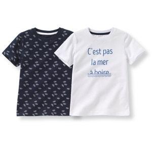 T-shirt imprimé 3-12 ans (lot de 2) R Edition