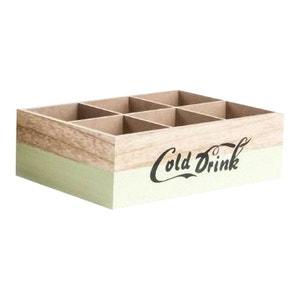 Range bouteille en bois brut old style vert UNITED LABELS