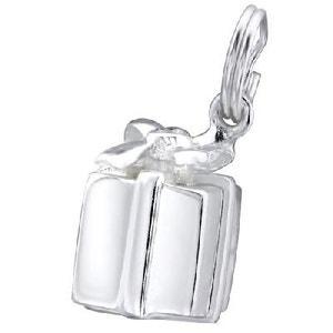 Charm Pampille Paquet Cadeau Oxyde de Zirconium Blanc Argent 925 SO CHIC BIJOUX