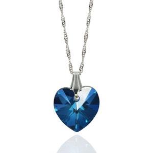 Collier BISHOJO Coeur Romance SWAROVSKI ELEMENTS Argent 925 Bleu Bermudes SWAROVSKI ELEMENTS