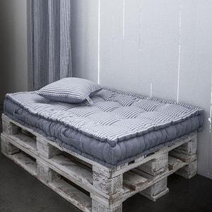 Assise palette en coton 120 x 80 cm - Blanc et bleu LEFRANC BOURGEOIS