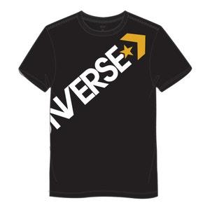 T-shirt scollo rotondo motivo davanti, cross body CONVERSE