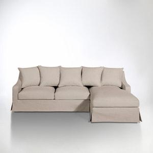 Hoekcanapé in katoen/linnen, omvormbaar, uitstekend comfort, Evender La Redoute Interieurs