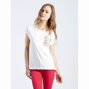 T-shirt Alisha met bedrukte zak COMPANIA FANTASTICA