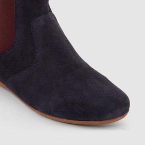 Boots, Leder mit farbigem Elastikeinsatz Gr. 26-39 La Redoute Collections