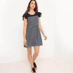 Gestreepte jurk met korte mouwen COMPANIA FANTASTICA
