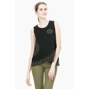 TS Grecia Sleeveless Draped T-Shirt DESIGUAL