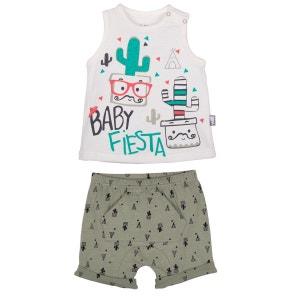 Ensemble t-shirt et short bébé garçon Mister Cactus PETIT BEGUIN