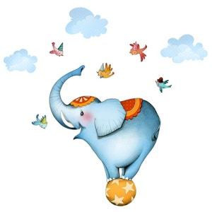 Sticker enfant - Eléphant funambule ACTE DECO