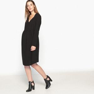 V Neck Maternity Dress La Redoute Collections