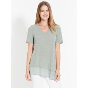 Tee-shirt bi-matière asymétrique CELAIA