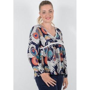 Bluse mit V-Ausschnitt, Paisley-Muster und 3/4-Ärmeln GABRIELLE BY MOLLY BRACKEN