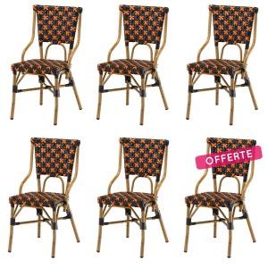 chaise alu bistrot la redoute. Black Bedroom Furniture Sets. Home Design Ideas