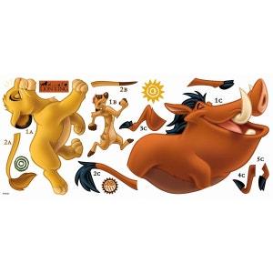 Stickers géant Simba et Timon & Pumba Roi Lion Disney DISNEY