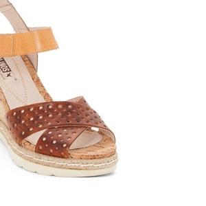 Sandales compensées cuir Bali PIKOLINOS