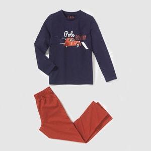 Pyjama jersey imprimé voitures 2-12 ans La Redoute Collections