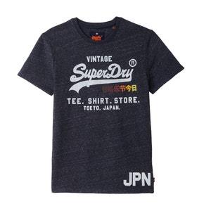 T-shirt estampada com gola redonda, mangas curtas SUPERDRY