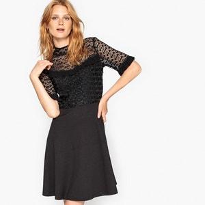 Kleid aus Guipure-Spitze und Volants MADEMOISELLE R
